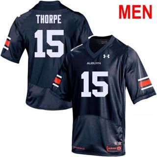 Men's Auburn Tigers #15 Neiko Thorpe Navy 2019 College Football Jersey