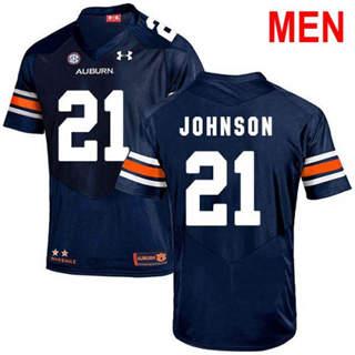 Men's Auburn Tigers #21 Kerryon Johnson Navy 2019 College Football Jersey