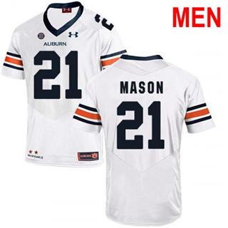 Men's Auburn Tigers #21 Tre Mason White 2019 College Football Jersey