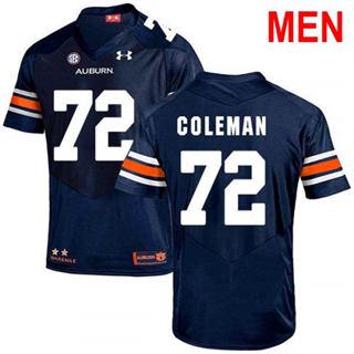 Men's Auburn Tigers #72 Shon Coleman Navy 2019 College Football Jersey