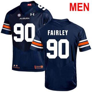 Men's Auburn Tigers #90 Nick Fairley Navy 2019 College Football Jersey