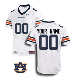 Men's Auburn Tigers Custom Name Number White 2019 College Football Jersey