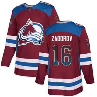 Men's Avalanche #16 Nikita Zadorov Burgundy Home  Drift Fashion Stitched Hockey Jersey