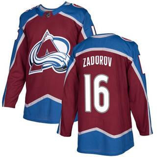 Men's Avalanche #16 Nikita Zadorov Burgundy Home  Stitched Hockey Jersey
