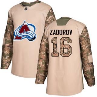 Men's Avalanche #16 Nikita Zadorov Camo  2017 Veterans Day Stitched Hockey Jersey