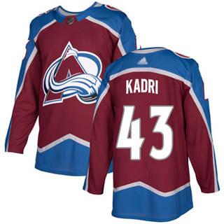 Men's Avalanche #43 Nazem Kadri Burgundy Home  Stitched Hockey Jersey