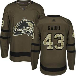 Men's Avalanche #43 Nazem Kadri Green Salute to Service Stitched Hockey Jersey