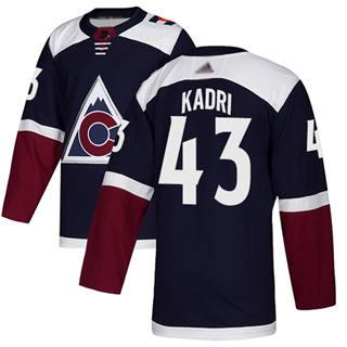 Men's Avalanche #43 Nazem Kadri Navy Alternate  Stitched Hockey Jersey