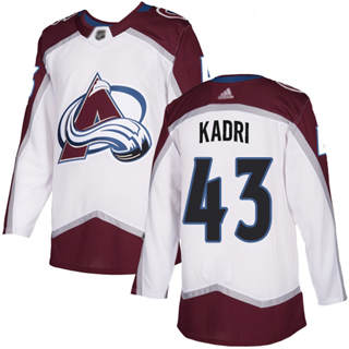Men's Avalanche #43 Nazem Kadri White Road  Stitched Hockey Jersey