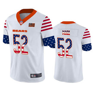 Men's Bears #52 Khalil Mack White Stitched Football Limited Independence Day Jersey