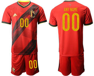 Men's Belgium Personalized Home Soccer Country Jersey