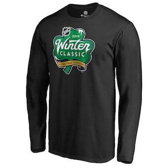 Men's Black 2019 Hockey Winter Classic Event Logo Long Sleeve T-Shirt
