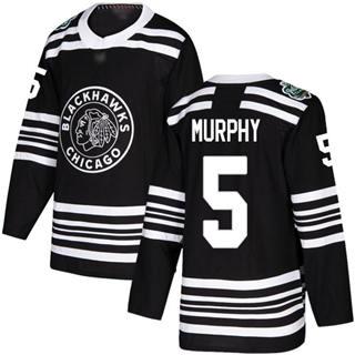 Men's Blackhawks #5 Connor Murphy Black  2019 Winter Classic Stitched Hockey Jersey