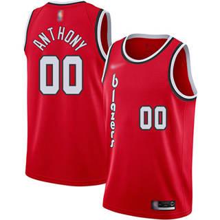 Men's Blazers #00 Carmelo Anthony Red Basketball Swingman Hardwood Classics Jersey