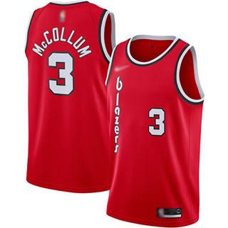 Men's Blazers #3 C.J. McCollum Red Basketball Swingman Hardwood Classics Jersey