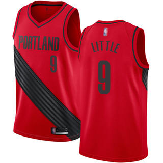 Men's Blazers #9 Nassir Little Red Basketball Swingman Statement Edition Jersey