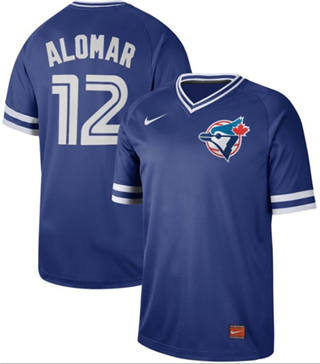 Men's Blue Jays #12 Roberto Alomar Royal  Cooperstown Collection Stitched Baseball Jersey