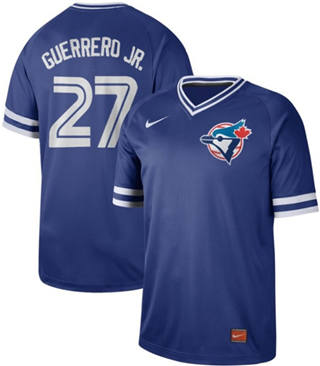 Men's Blue Jays #27 Vladimir Guerrero Jr. Royal  Cooperstown Collection Stitched Baseball Jersey