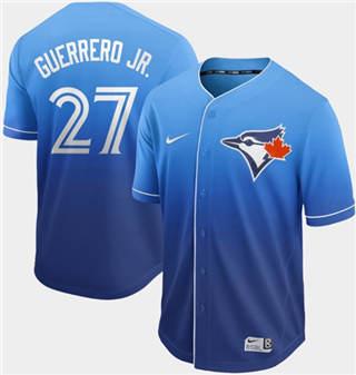 Men's Blue Jays #27 Vladimir Guerrero Jr. Royal Fade  Stitched Baseball Jersey