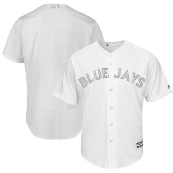 Men's Blue Jays Blank White 2019 Players' Weekend Player Jersey