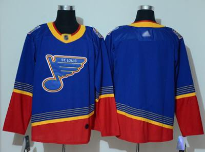 Men's Blues Blank Blue Red Authentic 2019 Heritage Stitched Hockey Jersey
