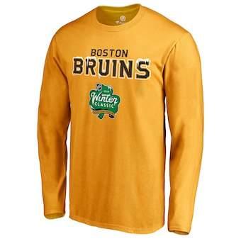 Men's Boston Bruins Gold 2019 Winter Classic Alternate Logo Long Sleeve T-Shirt