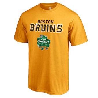 Men's Boston Bruins Gold 2019 Winter Classic Alternate Logo T-Shirt