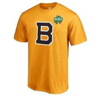 Men's Boston Bruins Gold 2019 Winter Classic Primary Logo Team T-Shirt