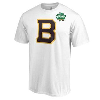 Men's Boston Bruins White 2019 Hockey Winter Classic Primary Logo T-Shirt
