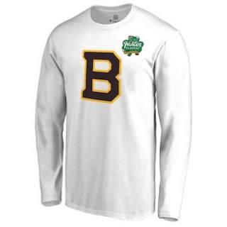 Men's Boston Bruins White 2019 Winter Classic Primary Logo Long Sleeve T-Shirt