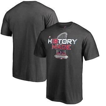 Men's Boston Red Sox Charcoal 2018 World Series Champions Locker Room T-Shirt
