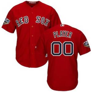 Men's Boston Red Sox Majestic Scarlet 2018 World Series Cool Base Custom Jersey