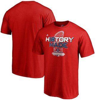 Men's Boston Red Sox Red 2018 World Series Champions Locker Room T-Shirt