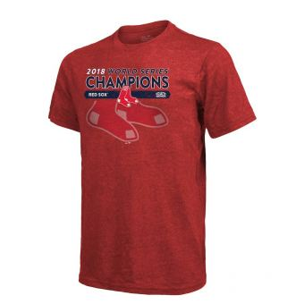 Men's Boston Red Sox Red 2018 World Series Champions Masterful Tri-Blend T-Shirt