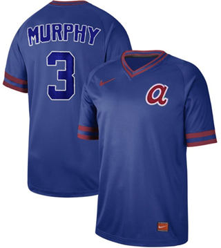 Men's Braves #3 Dale Murphy Royal  Cooperstown Collection Stitched Baseball Jersey