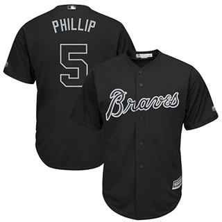 Men's Braves #5 Freddie Freeman Black Phillip Players Weekend Cool Base Stitched Baseball Jersey