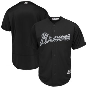 Men's Braves Blank Black 2019 Players' Weekend  Player Jersey