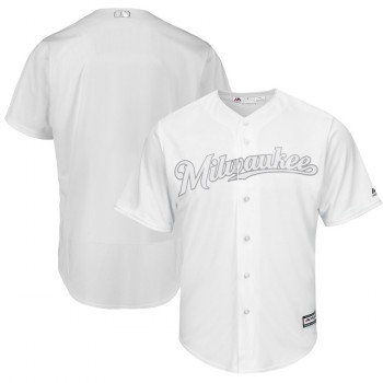 Men's Brewers Blank White 2019 Players' Weekend Player Jersey