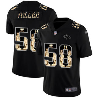 Men's Broncos #58 Von Miller Black Stitched Football Limited Statue of Liberty Jersey