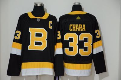 Men's Bruins #33 Zdeno Chara Black Throwback Authentic Stitched Hockey Jersey