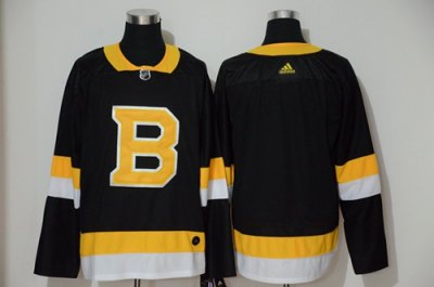 Men's Bruins Blank Black Throwback Authentic Stitched Hockey Jersey