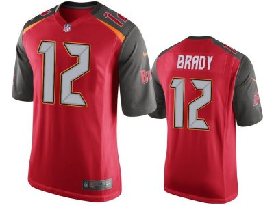 Men's Buccaneers #12 Tom Brady Red Team Color Stitched Football Vapor Untouchable Limited Jersey