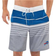 Men's Buffalo Bills G-III Sports by Carl Banks Heathered GrayRoyal Balance Quick Dry Swim Trunks