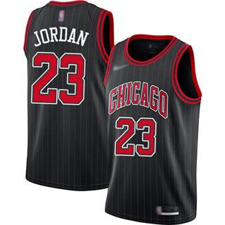 Men's Bulls #23 Michael Jordan Black Basketball Swingman Statement Edition 2019-2020 Jersey