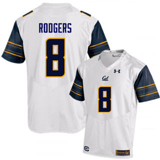 Men's California Golden Bears #8 Aaron Rodgers White 2019 College Football Jersey