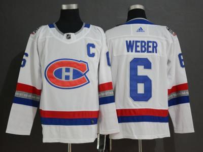 Men's Canadiens #6 Shea Weber White 2017 Hockey 100 Classic  Hockey Hockey Jersey