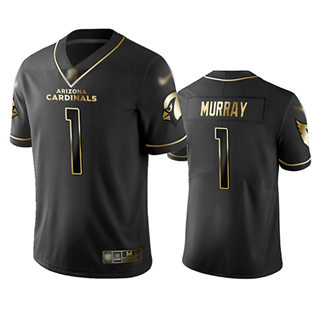 Men's Cardinals #1 Kyler Murray Black Stitched Football Limited Golden Edition Jersey