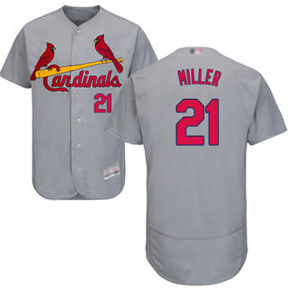 Men's Cardinals #21 Andrew Miller Grey Flexbase  Collection Stitched Baseball Jersey