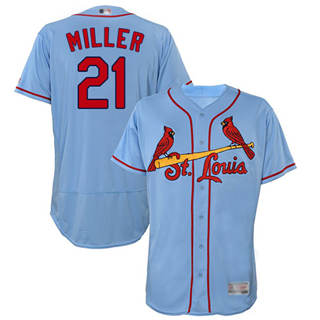 Men's Cardinals #21 Andrew Miller Light Blue Flexbase  Collection Stitched Baseball Jersey