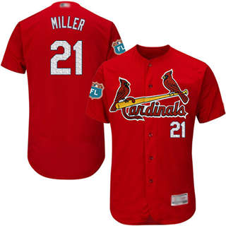 Men's Cardinals #21 Andrew Miller Red Flexbase  Collection Stitched Baseball Jersey